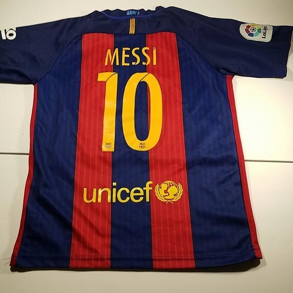best website dedd0 2f9de Authentic Nike Lionel Messi FCB Soccer Jersey 24